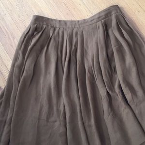 Talbots pleated skirt 10